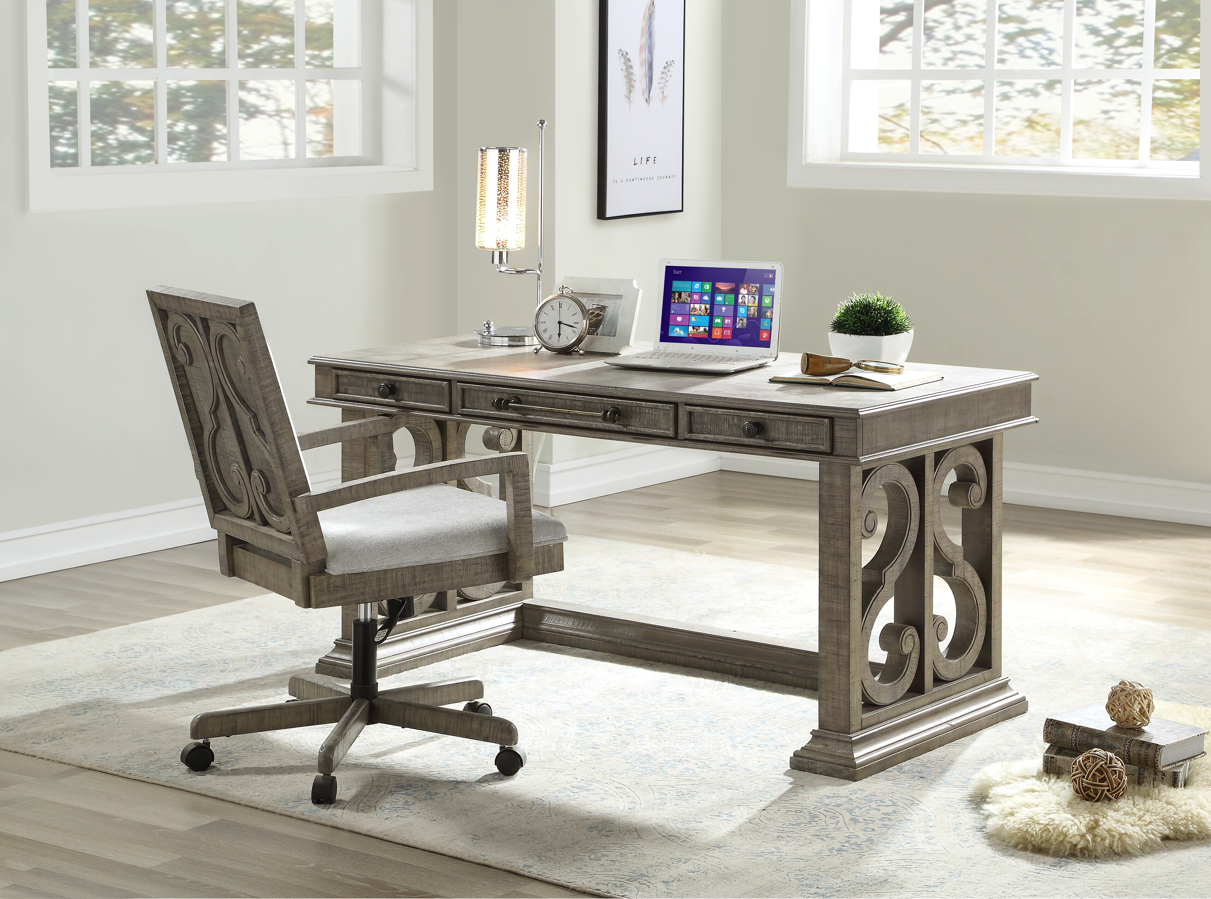 Counter Height Desk Office Furniture Sets You Ll Love In 2021 Wayfair