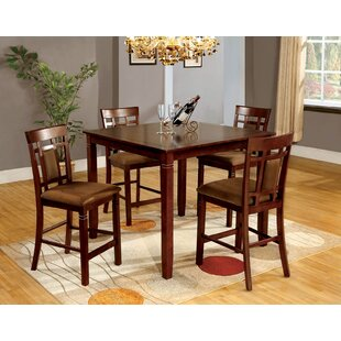 Yerby 5 Piece Counter Height Dining Set by