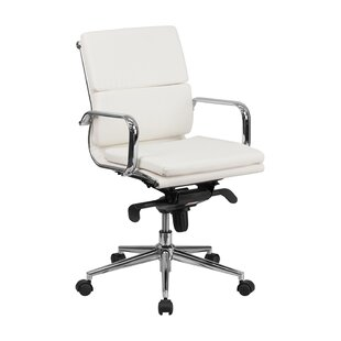 genuine leather office chairs you ll love wayfair