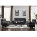 Laforest 3 Piece Faux Leather Living Room Set by Ivy Bronx