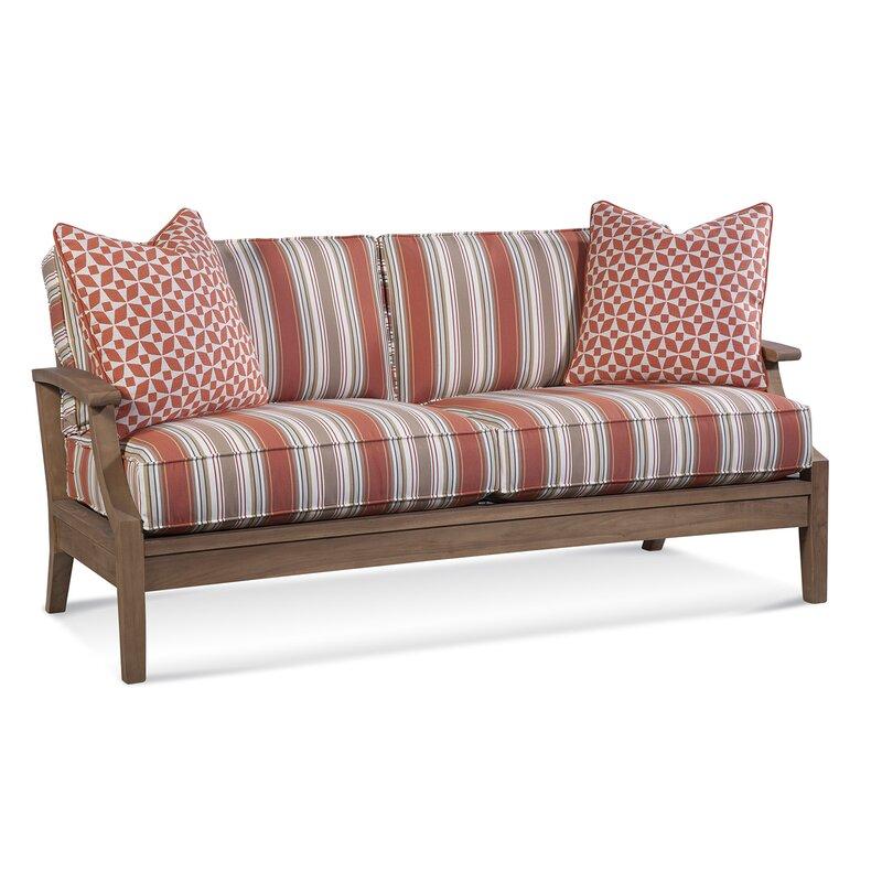 Braxton Culler Messina Teak Patio Sofa With Cushions