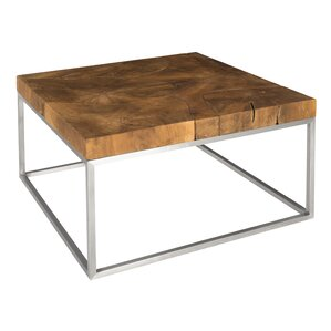 Teak Stainless Steel Coffee Table by Phillips Collection