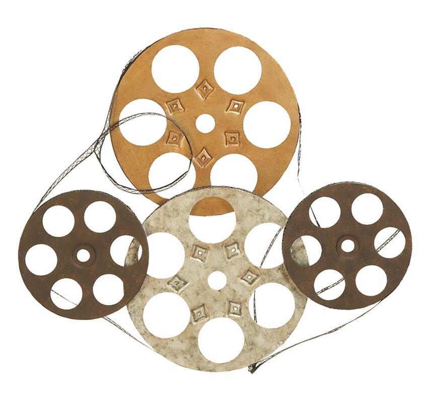Movie Reel Wall Decor woodland imports film reel wall décor & reviews | wayfair
