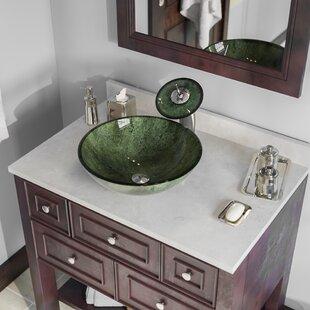Forest Glass Circular Vessel Bathroom Sink ByMR Direct