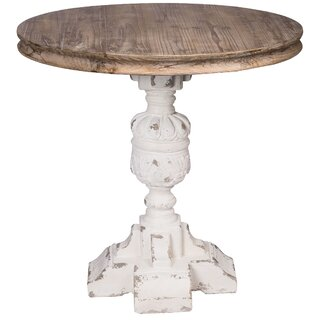 Birdwell French Country Table - White, Natural by Ophelia & Co. SKU:BC140176 Shop