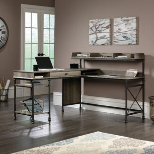 Oakside L-Shape Executive Desk with Hutch
