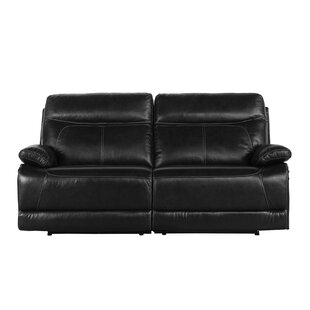 Red Barrel Studio Roesch Leather Reclining Loveseat