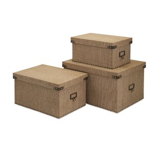 Storage Wood 3 Piece Box Set By Darby Home Co