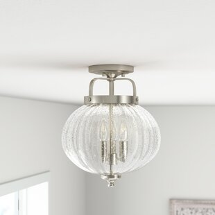 Perla 3-Light Semi Flush Mount by Mistana