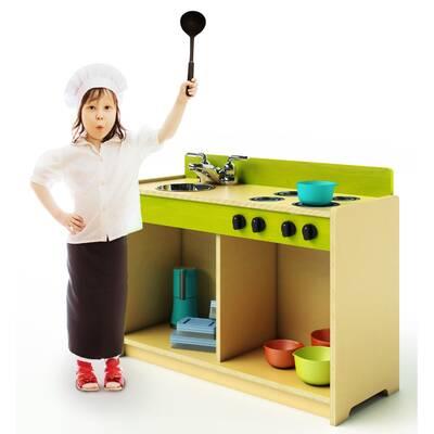 Whitney Bros Let S Play Toddler Kitchen Set Wayfair