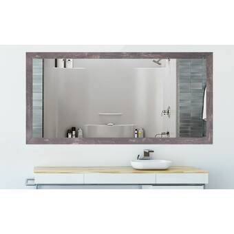 Charlton Home Lehto Double Beveled Bathroom Vanity Mirror Wayfair