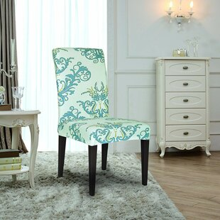 Printed Spandex Stretch Box Cushion Dining Chair Slipcover (Set of 4)