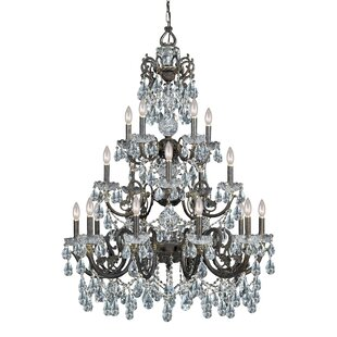 Astoria Grand Suniga 20 Light Crystal Candle Chandelier