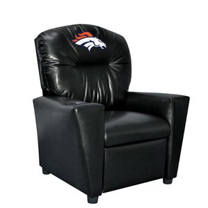 NFL Kids Faux Leather Recliner with Cup Holder by Imperial