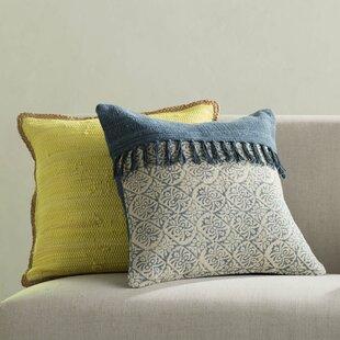 Friedman Patchwork Square 100% Cotton Throw Pillow