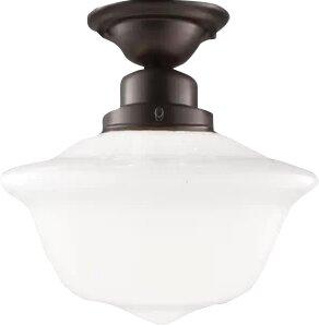 August Grove Karen 1-Light Semi-Flush Mount