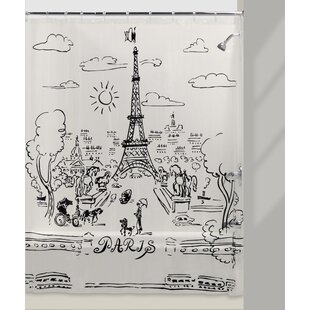 Victoria Paris Day Vinyl Shower Curtain