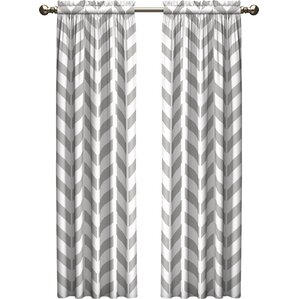 ruth chevron room darkening rod pocket curtain panels set of 2