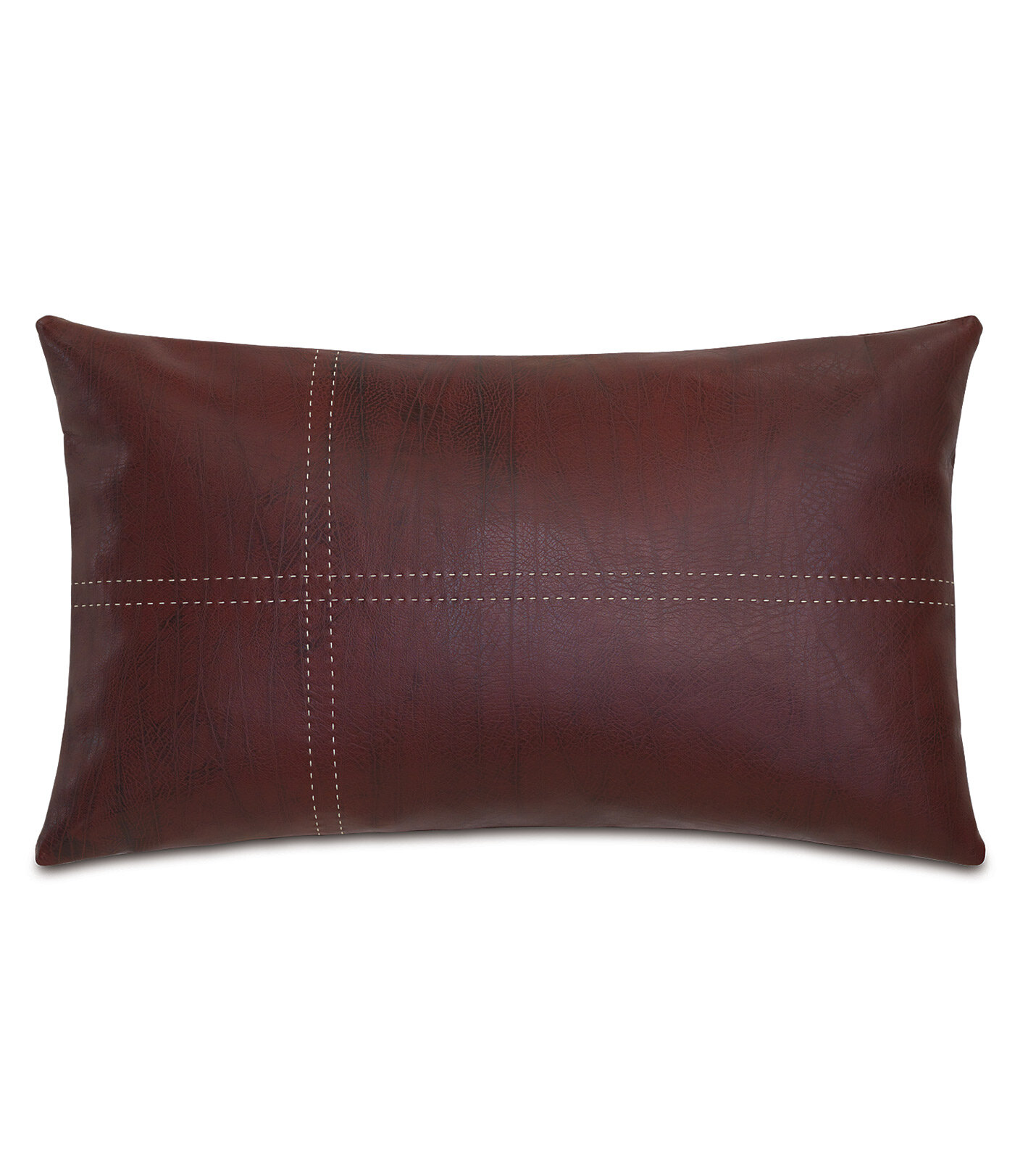Eastern Accents Chalet Faux Leather Down Lumbar Pillow Reviews Wayfair