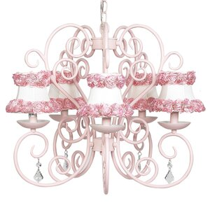 Carriage 5-Light Shaded Chandelier
