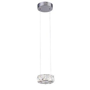 Orren Ellis Wainberg 1-Light LED Crystal Pendant