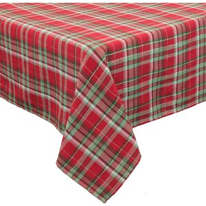 Holiday Tartan Christmas Tablecloth