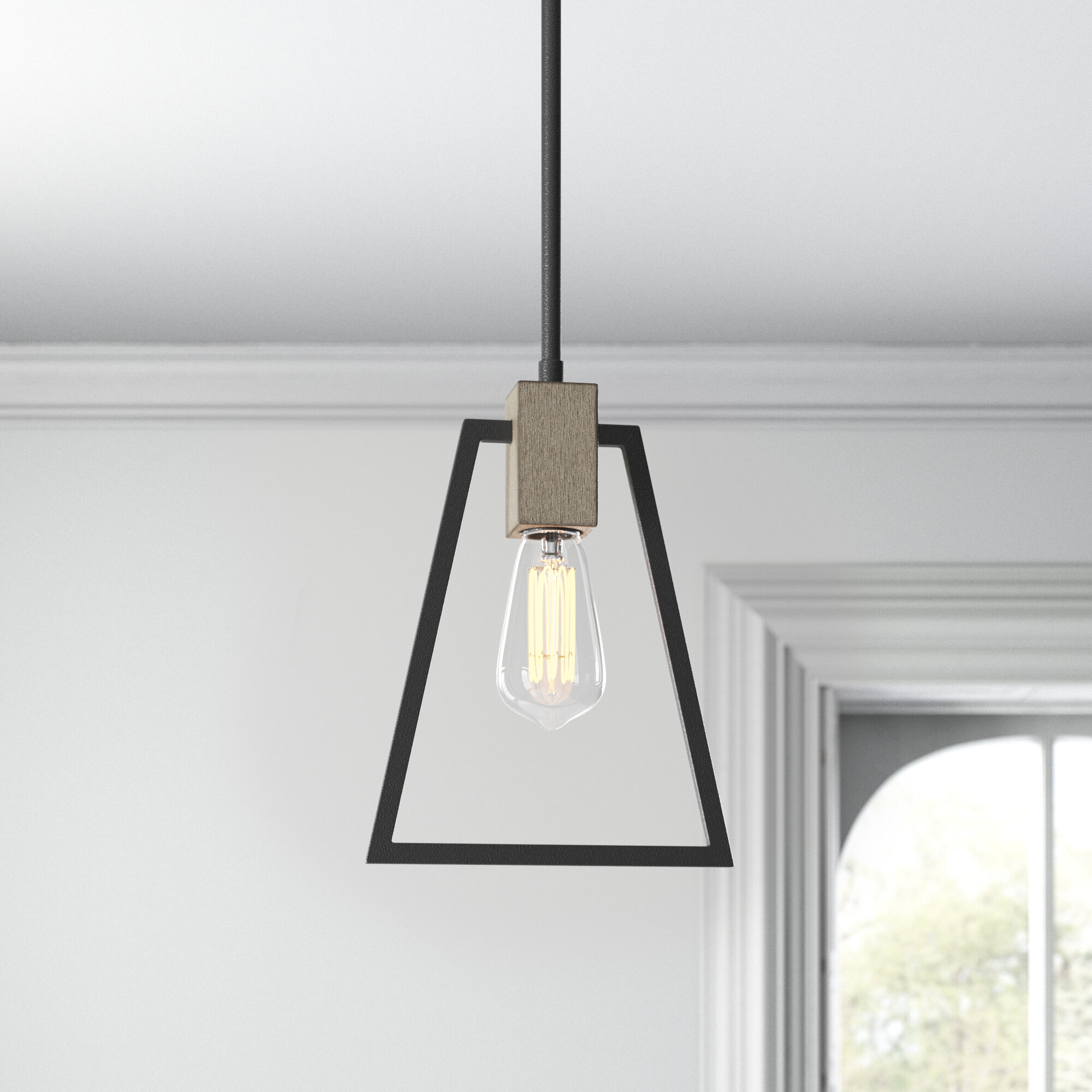 Dillman 1 Light Single Geometric Pendant Joss Main