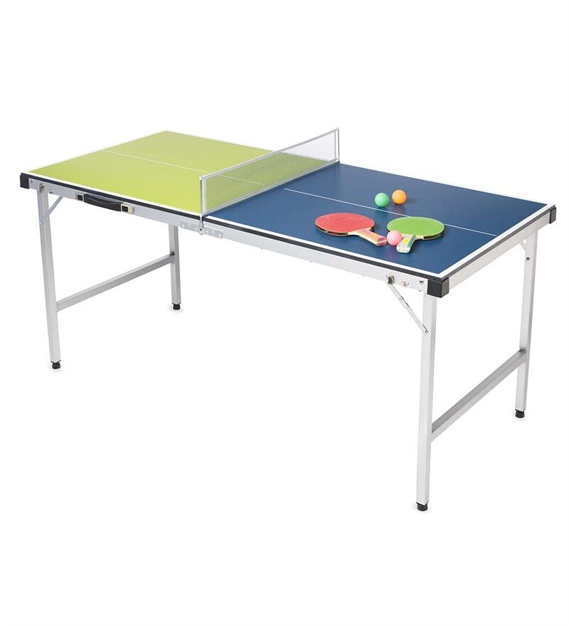 Hearthsong Pick Up And Go Mini Foldable Indoor Outdoor Table Tennis Table With Paddles And Balls Reviews Wayfair