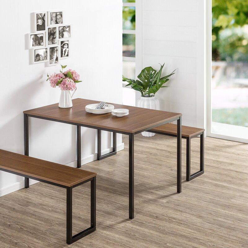 Nice Walser 3 Piece Dining Table Set