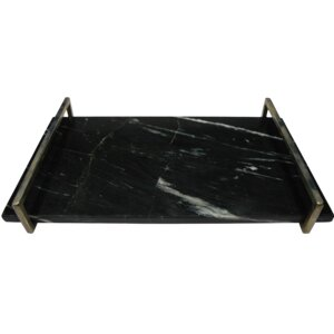 Yarrow Rectangle Marble Serving Tray