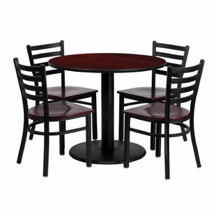Haffner Round Laminate 5 Piece Dining Set Ebern Designs