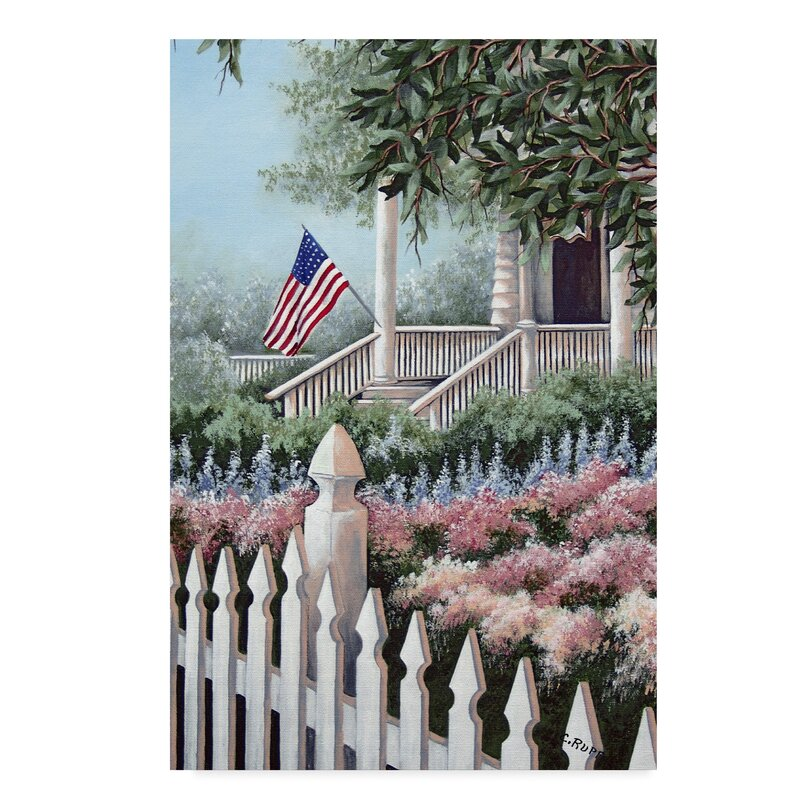 'Ready For July 4th' Acrylic Painting Print on Wrapped Canvas