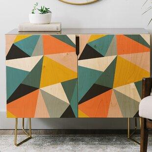 The Old Art Studio Modern Geometric Credenza by East Urban Home