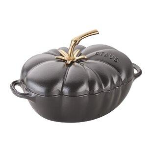 Staub Cast Iron 3 Qt. Tomato Oval Dutch Oven