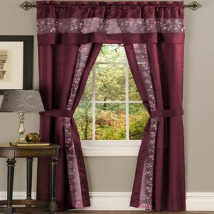 Tabares Semi-Sheer Rod Pocket Curtain Panels (Set of 2) by August Grove