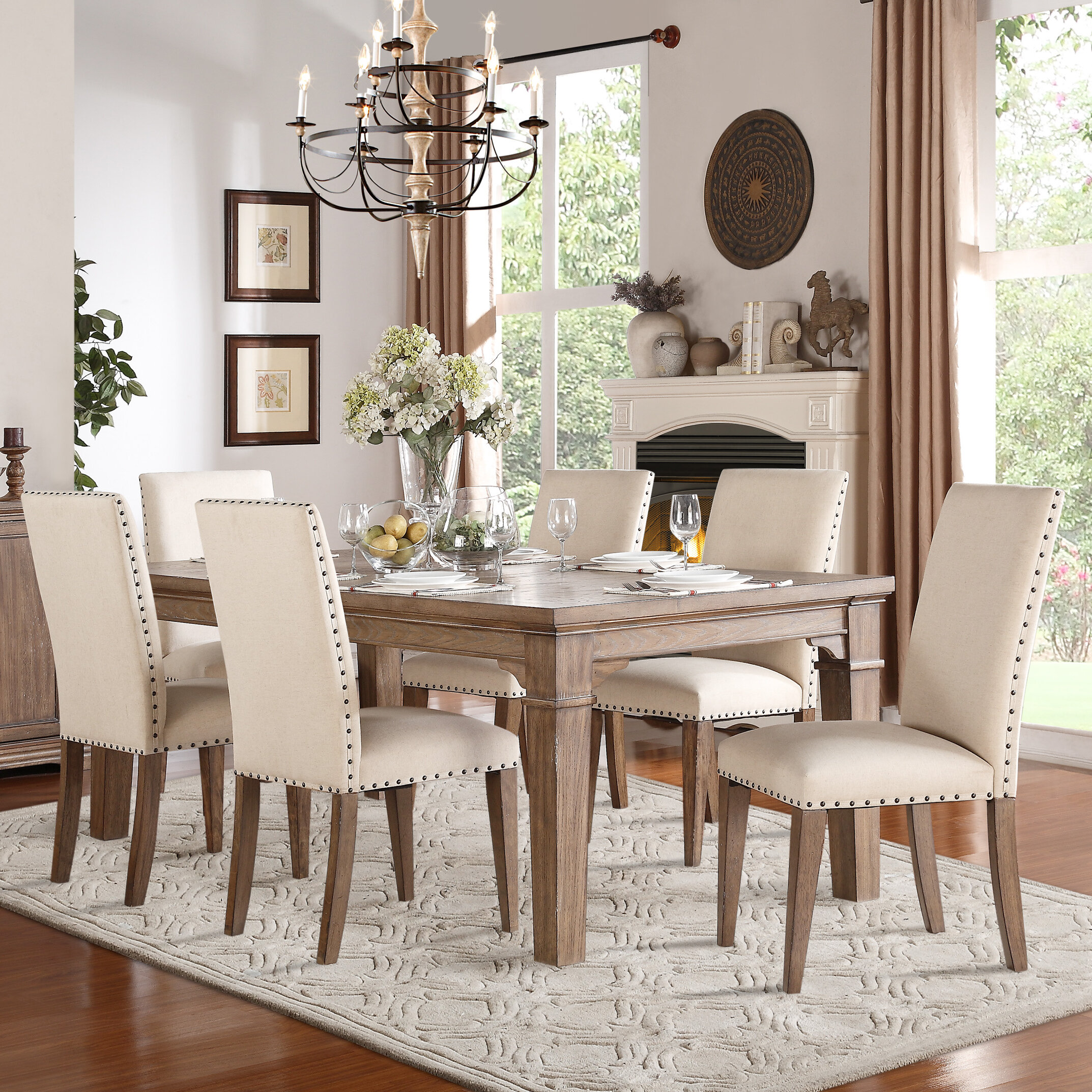 Phenomenal Wilmington 7 Piece Dining Set Home Interior And Landscaping Palasignezvosmurscom