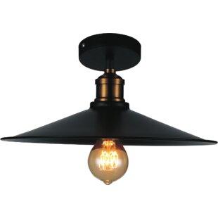 Best Price Cosimo 1-Light Semi Flush Mount By Williston Forge