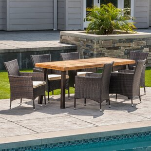 Osbourne Outdoor 7 Piece Dining Set with ..