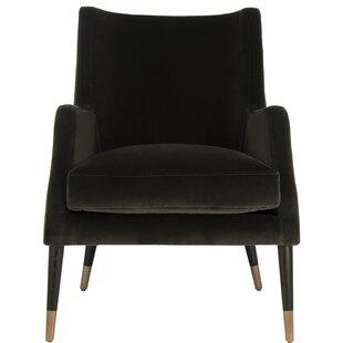 Everly Quinn Lorinda Velvet Armchair