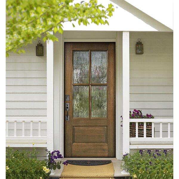 Knockety Ready To Install Mahogany Wood Prehung Front Entry Door Wayfair