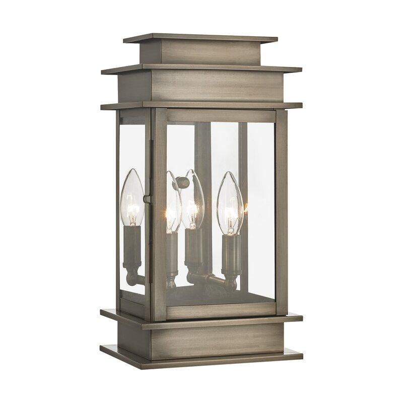 Gracie Oaks Gobinda 2 Bulb Outdoor Wall Lantern Reviews Wayfair