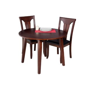 Dinh Modern 3 Piece Drop Leaf Solid Wood Dining Set Latitude Run