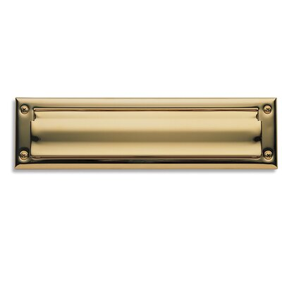Baldwin 13 in x 3.6 Brass Mail Slot Color: Oil Rubbed Bronze