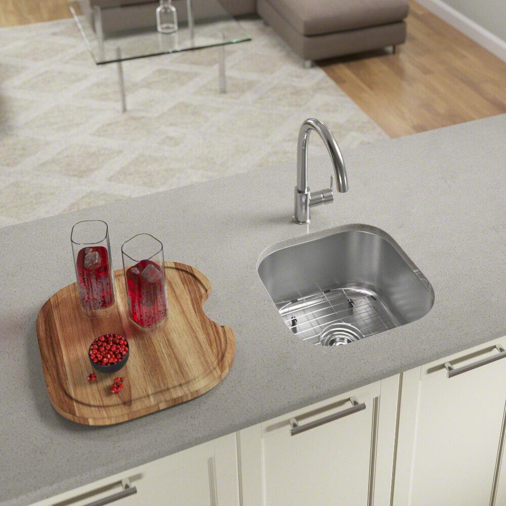 Mrdirect Stainless Steel 17 L X 16 W Undermount Bar Sink With