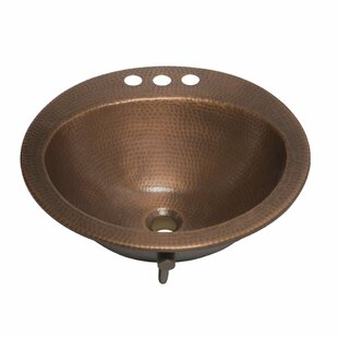 Read Reviews Bell Metal Circular Drop-In Bathroom Sink with Overflow By Sinkology