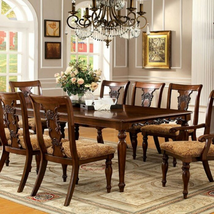 Sadie Traditional Formal Solid Wood Dining Table