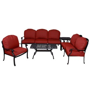 Baumgardner 5 Piece Sofa Seating Group with Sunbrella Cushions by Darby Home Co