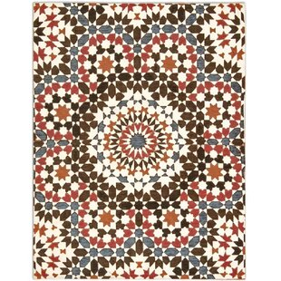 Marocco White/Red/Brown/Orange/Blue Area Rug by Calligaris
