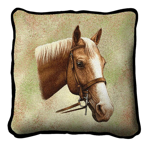 Charlton Home Kirkpatrick Palomino Horse Cotton 17 Throw Pillow Cover Wayfair
