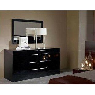 Orren Ellis Canipe 8 Drawer Double Dresser with Mirror
